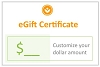 eGift Certificate - Choose Your Own Amount