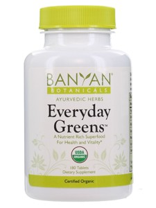 Everyday Greens Tablets Organic 180 tabs (B12611) Banyan Botanicals