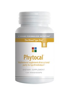 Phytocal  B 120 vegcaps (PHYB) D'Adamo Personalized Nutrition