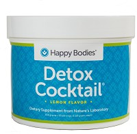 Detox Cocktail Mix 90 Serving Jar with Scoop Lemon Happy Bodies
