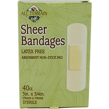 "Sheer Bandages 3/4"" x 3"" 40 pc"