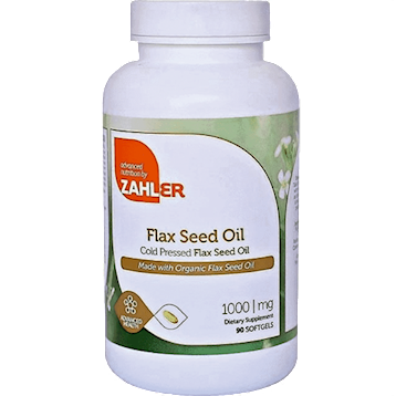 Flax Seed Oil 1000 mg 90 softgels Advanced Nutrition by Zahler Z80358