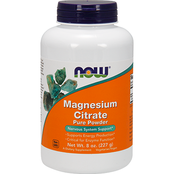 Magnesium Citrate Powder 8 oz NOW N1295