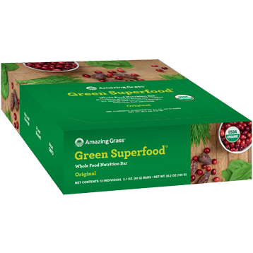 Green SuperFood Original Bar 12 Bars Amazing Grass A50081