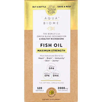 Aqua Biome  Fish Oil Max Str 120 softgel