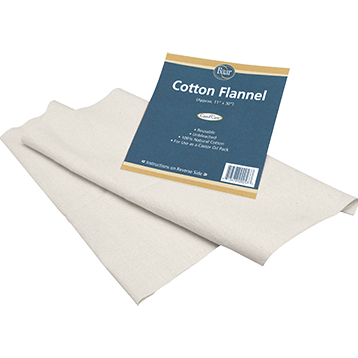 Cotton Flannel for Castor Oil 1 pack Baar Products COTT2