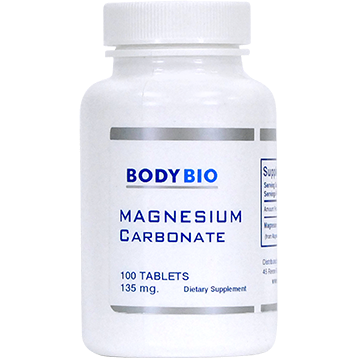 Magnesium Carbonate 135 mg 100 tabs BodyBio HL216