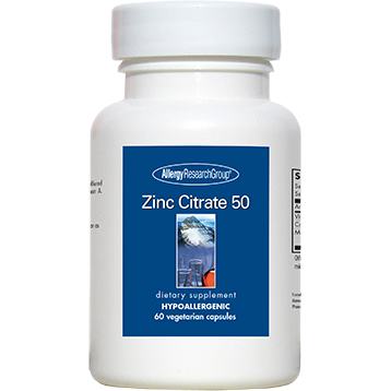 Zinc Citrate 50 mg 60 caps Allergy Research Group ZINC2
