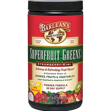 Superfruit Greens Straw-Kiwi 9.52 oz Barlean's Organic Oils B00100