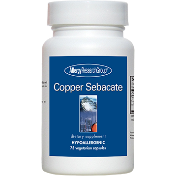 Copper Sebacate 4 mg 75 caps   Allergy Research Group COPP2